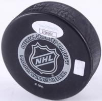 Evgeni Nabokov Signed 2014 Satdium Series Logo Hockey Puck (JSA COA) at PristineAuction.com