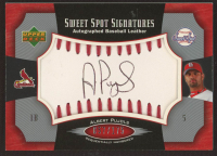 Albert Pujols 2005 Sweet Spot Signatures Red Stitch Black Ink #AP / 175 at PristineAuction.com