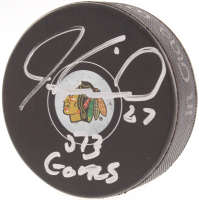 "Jeremy Roenick Signed Blackhawks Logo Hockey Puck Inscribed ""513 Goals"" (Beckett COA) at PristineAuction.com"