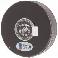 "Jeremy Roenick Signed Blackhawks Logo Hockey Puck Inscribed ""513 Goals"" (Beckett COA) at PristineAuction.com"