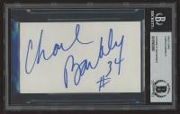 Charles Barkley Signed Patriots 3x5 Cut (BGS Encapuslated) at PristineAuction.com