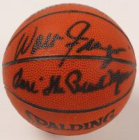 Walt Frazier & Earl Monroe Signed Mini NBA Basketball (PSA COA) at PristineAuction.com