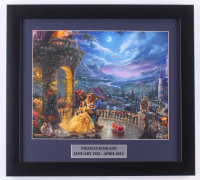 "Thomas Kinkade Walt Disney's ""Beauty and the Beast"" 14.5x16 Custom Framed Print Display at PristineAuction.com"