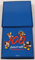 "Walt Disney World ""100 Years of Magic"" Pin Set of (4) with Disney Case at PristineAuction.com"