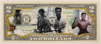 """Muhammad Ali """"Cassius Clay"""" Colorized $2 Commemorative Bank Note at PristineAuction.com"""