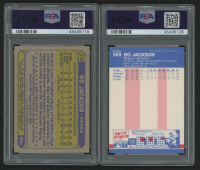 Lot of (2) PSA Graded 9 Bo Jackson Baseball Cards at PristineAuction.com