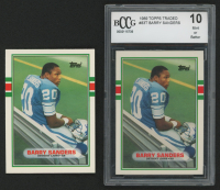 Lot of (2) Barry Sanders Football Cards with 1989 Topps Traded #83T RC & 1989 Topps Traded #83T RC (BCCG 10) at PristineAuction.com