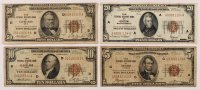Lot of (4) 1929 U.S. National Currency Federal Reserve Bank Notes with $50, $20, $10, & $5 at PristineAuction.com