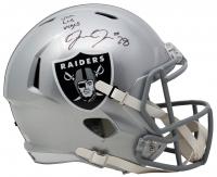 "Josh Jacobs Signed Raiders Full-Size Speed Helmet Inscribed ""Viva Las Vegas"" (Beckett COA & Jacobs Hologram) at PristineAuction.com"