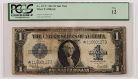 Star Note - 1923 $1 One-Dollar Blue Seal Large-Size Silver Certificate Bank Note (PCGS 12) at PristineAuction.com