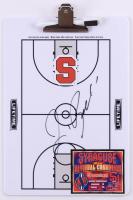 Jim Boeheim Signed Syracuse Orange Dry Erase Basketball Clipboard (JSA COA) at PristineAuction.com