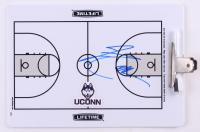 Jim Calhoun Signed UCONN Huskies Dry Erase Basketball Clipboard (JSA COA) at PristineAuction.com