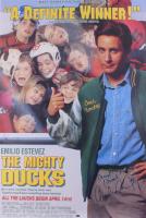 "Emilio Estevez Signed ""The Mighty Ducks"" 27x40 Poster Inscribed ""Quack! Quack!"" (Schwartz Hologram) at PristineAuction.com"