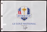 Tony Finau Signed 2018 Ryder Cup Golf Pin Flag (JSA COA) at PristineAuction.com