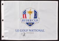 Dustin Johnson Signed 2018 Ryder Cup Golf Pin Flag (JSA COA) at PristineAuction.com