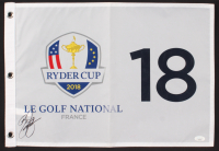 Rickie Fowler Signed 2018 Ryder Cup Golf Pin Flag (JSA COA) at PristineAuction.com