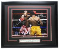 "Sugar Ray Leonard & Thomas ""Hitman"" Hearns Signed ""The War"" 16x20 Custom Framed Photo Display (PSA COA) at PristineAuction.com"