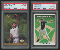 Lot of (2) PSA Graded 8 Derek Jeter Baseball Cards with 1993 Upper Deck #449 RC & 1993 Topps #98 RC at PristineAuction.com