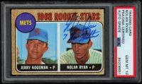 "Nolan Ryan Signed 1968 Topps #177 Rookie Stars Jerry Koosman RC / Nolan Ryan RC Inscribed ""7 No-Hitters"" (PSA Encapsulated) at PristineAuction.com"