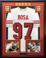 Nick Bosa Signed 34.5x42.5 Custom Framed Jersey (Beckett COA) at PristineAuction.com