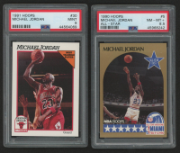 Lot of (2) PSA Graded Michael Jordan Basketball Cards with 1991-92 Hoops #30 & 1990-91 Hoops #5 All-Star at PristineAuction.com
