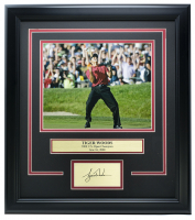 Tiger Woods 2008 U.S. Open Champion 14x18 Custom Framed Photo Display at PristineAuction.com