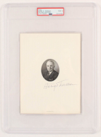 Harry S. Truman Signed Engraved Portrait Page (PSA Encapsulated) at PristineAuction.com