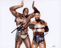 Titus O'Neil & Darren Young Signed WWE 8x10 Photo (JSA COA) at PristineAuction.com