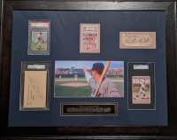 """Babe Ruth & Charlie Root Signed """"1932 Called Shot"""" 22x28 Custom Framed Cut Display (JSA LOA & PSA Encapsulated) at PristineAuction.com"""