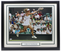 Caroline Wozniacki Signed 22x27 Custom Framed Photo (PSA Hologram) at PristineAuction.com