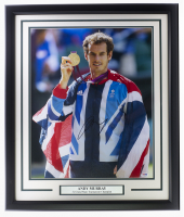 Andy Murray Signed 22x27 Custom Framed Photo (PSA Hologram) at PristineAuction.com