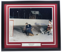 "Gordie Howe Signed Red Wings 22x27 Custom Framed Photo Display Inscribed ""Mr. Hockey"" (JSA COA) at PristineAuction.com"