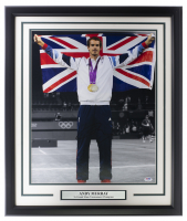 Andy Murray Signed 22x27 Custom Framed Photo (PSA Hologram) at PristineAuction.com