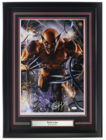 Greg Horn Signed Wolverine 20x26 Custom Framed Lithograph Display (JSA COA) at PristineAuction.com