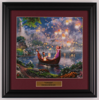 "Thomas Kinkade Walt Disney's ""Tangled"" 16.5x16.5 Custom Framed Print Display at PristineAuction.com"