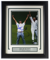 Adam Scott Signed 2013 Masters Champion 11x14 Custom Framed Photo Display (Beckett COA) at PristineAuction.com