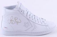 Larry Bird Signed Converse Basketball Shoe (PSA COA) at PristineAuction.com