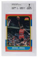 Michael Jordan 1986-87 Fleer #57 RC (BGS 7) at PristineAuction.com