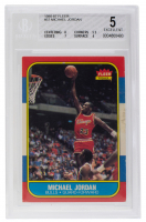 Michael Jordan 1986-87 Fleer #57 RC (BGS 5) at PristineAuction.com