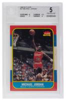 Michael Jordan 1986-87 Fleer #57 RC (BGS 5) at PristineAuction.com
