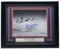 Donald Strait Signed WWII 11x14 Custom Framed Photo Display With Multiple Inscriptions (PSA COA) at PristineAuction.com