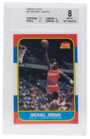 Michael Jordan 1986-87 Fleer #57 RC (BGS 8) at PristineAuction.com