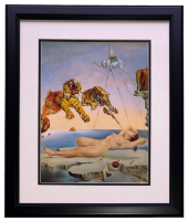 "Salvador Dali ""Dream Caused by the Flight of a Bee Around a Pomegranate a Second Before Awakening"" 18x20 Custom Framed Print Display at PristineAuction.com"