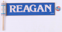 Lot of (3) Ronald Reagan Presidential Campaign Items with (1) Pin, (1) Streamer and (1) Bumper Stickers at PristineAuction.com