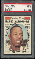 Hank Aaron 1961 Topps #577 All-Star (PSA 7) at PristineAuction.com