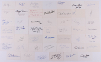 Lot of (48) Signed 3x5 Index Cards with Jim Otto, Ozzie Newsome, Warren Moon (JSA COA) at PristineAuction.com