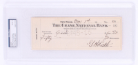 Babe Ruth Twice-Signed Personal Bank Check (PSA Encapsulated) at PristineAuction.com