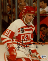 Sergei Fedorov Signed Red Wings 8x10 Photo (Beckett COA) at PristineAuction.com