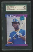 Ken Griffey Jr. 1989 Donruss #33 RC (SGC 8.5) at PristineAuction.com