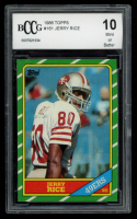 Jerry Rice 1986 Topps #161 RC (BCCG 10) at PristineAuction.com